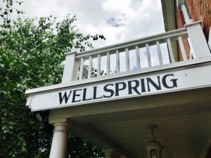 Wellspring entry sign